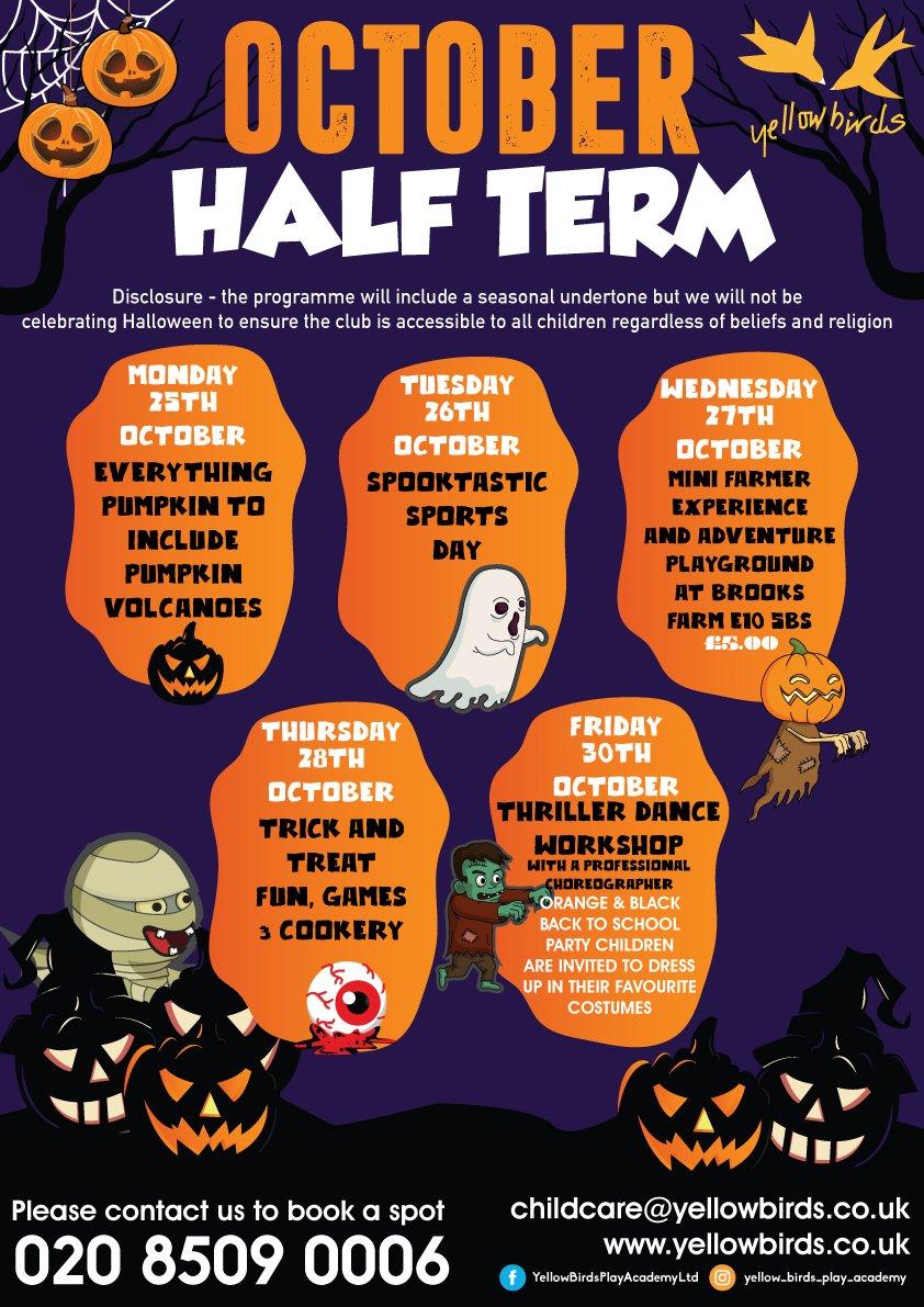 October Half-Term